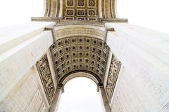 Arc de Triomphe. Arch of triumph on Charles de Gaulle Etoile place Les Champs Elysees Paris France Stock Image