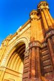 Arc de Triomphe. In Barcelona, Catalonia Spain Stock Photos