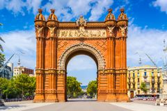 Arc de Triomphe. In Barcelona, Catalonia Spain Stock Photography