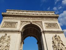Arc de Triomphe. At Paris, France Royalty Free Stock Photo