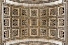 Arc de Triomphe arch detail Stock Image