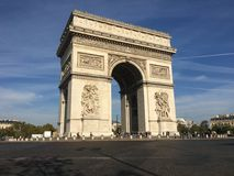 Arch of triumph Paris France. Arc de Triomphe Arch of triumph on Charles de Gaulle Etoile place Les Champs Elysees Paris France Royalty Free Stock Photo