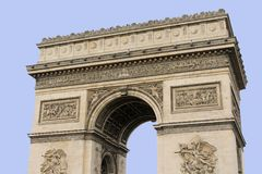 Arc de Triomphe. Arch of triumph on Charles de Gaulle Etoile place Les Champs Elysees Paris France Stock Images