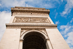 Arc de Triomphe (arch of triumph) in Paris Stock Images