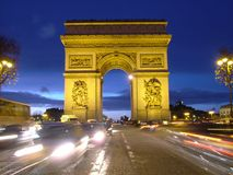 Arc de Triomphe - Arch of Triumph, Paris, France Royalty Free Stock Images