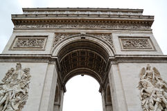 Arc de Triomphe. (Arch of Triumph) in Paris, France Royalty Free Stock Image