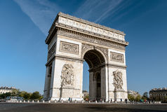 Arc de Triomphe - Arch of Triumph, Paris, France Stock Photography