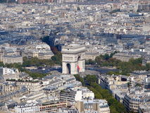 Arc De Triomphe - Arch Of Triumph, Paris, France. View of the Arc de Triomphe - Arch of Triumph from the Eiffel Tower, Paris, France Royalty Free Stock Image