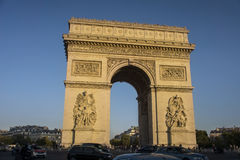 Arc de Triomphe - arco del trionfo, Parigi, Francia Immagini Stock