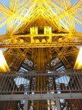 Arc de Triomphe auf dem Platz de l ` Ã ‰ toile - von weitem gesehen - Frankreich Stockbild