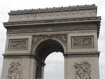 Arc de Triomphe auf dem Platz de l ` Ã ‰ toile - Vorderansicht - Paris - Frankreich Lizenzfreie Stockbilder
