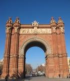 Arc DE Triomphe in Barcelona Royalty-vrije Stock Afbeeldingen