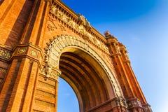 Arc de Triomphe. In Barcelona, Catalonia Spain Royalty Free Stock Photos