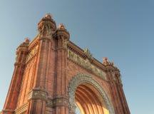 Arc de Triomphe Barcelona España Imagen de archivo libre de regalías