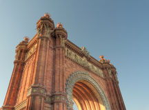 Arc de triomphe barcelona spain Royalty Free Stock Image