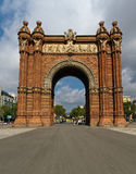 Arc de Triomphe in Barcelona Spain Royalty Free Stock Photos