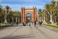 Arc de Triomphe in Barcelona Stock Photo