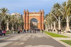 Arc de Triomphe in Barcelona. Spain Stock Image