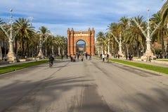 Arc de Triomphe in Barcelona. Spain Stock Photo