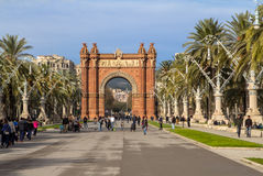 Arc de Triomphe in Barcelona Stock Photography