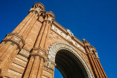 Arc de Triomphe in Barcelona. Spain, Catalonia, Barcelona, Arc de Triomphe in Barcelona. Finished building in 1888 for the Universal Exhibition Royalty Free Stock Photo