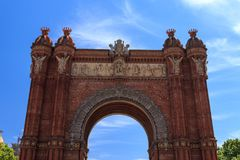 Arc de Triomphe in Barcelona. Spane Stock Images