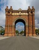 Arc de Triomphe in Barcelona Spanien Lizenzfreie Stockfotos