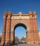 Arc de Triomphe in Barcelona Royalty Free Stock Images