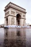 Arc de Triomphe. The beautiful reflex of the Arc de Triomphe Royalty Free Stock Photo