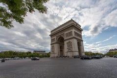 Arc DE Triomphe - Boog van Triomf, Parijs, Frankrijk Stock Fotografie
