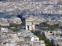 Arc de Triomphe -Boog van Triumph, Parijs, Frankrijk Royalty-vrije Stock Afbeelding