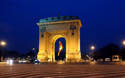 Arc de Triomphe Bucharest royaltyfria bilder