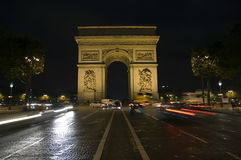 The Arc de Triomphe Stock Photography