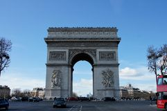 Arc De Triomphe Paris France stock photo