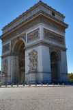 Arc de Triomphe célèbre à Paris, France Images stock