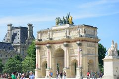 Arc de Triomphe Carrousel. PARIS FRANCE 7 JUNE  2015: Arc de Triomphe Carrousel Royalty Free Stock Photos