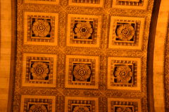 Arc de Triomphe ceiling in Paris Royalty Free Stock Photos