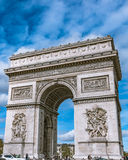 Arc de Triomphe, Champs-Elysees - París, Francia Fotos de archivo