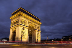 Arc de triomphe, Charles de Gaulle square, Paris. Arc de triomphe in Charles de Gaulle square, Paris, France Stock Photos