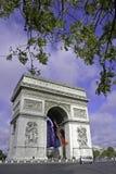 Arc de Triomphe. At Charles de Gaulle Paris France Royalty Free Stock Photo