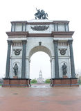 The Arc de Triomphe in the city of Kursk. Russia. Stock Photography