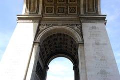 Arc De Triomphe Close. Close shot of the Arc De Triomphe shot from below one of the arches Royalty Free Stock Image
