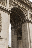 The Arc De Triomphe in close Detail. The Arc De Triomphe in Paris France Royalty Free Stock Photography