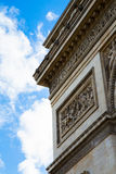 Arc de Triomphe. Close-up of the Arc de Triomphe in paris Stock Image
