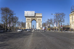 Arc de Triomphe in construction mode Stock Image