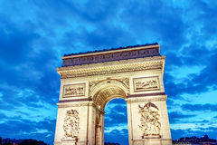 The Arc de Triomphe at dawn Royalty Free Stock Images