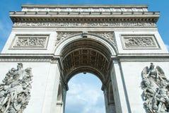 Arc de Triomphe de l'Étoile. Detail of the Arc de Triomphe de l'Étoile  in Paris as viewed from beneath Stock Photo