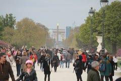 Arc de Triomphe DE l'Ã ‰ toile in Parijs, Frankrijk Stock Foto's