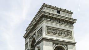 Arc de Triomphe de l`Étoile. The Arc de Triomphe de l`Étoile French pronunciation:Triumphal Arch of the Star is one of the most famous monuments in Paris Royalty Free Stock Photos