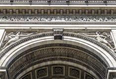 Arc de Triomphe de l`Étoile. The Arc de Triomphe de l`Étoile French pronunciation:Triumphal Arch of the Star is one of the most famous monuments in Paris Stock Images